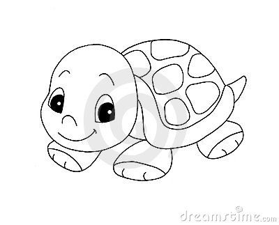 cute little girl turtle clip art   Black And White - Cute Turtle Royalty Free Stock Photo - Image ...