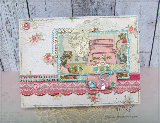 Tangerine Juice-skrabuking, handmade greeting cards, flowers, fabric, master classes