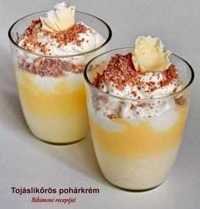 Hozzávalók :  1 csomag tejszínízű pudingpor  4 evk. cukor  400 ml tej  5 dkg vaj  100 ml  tojáslikőr   továbbá :  2 deci tejszínhab  ...