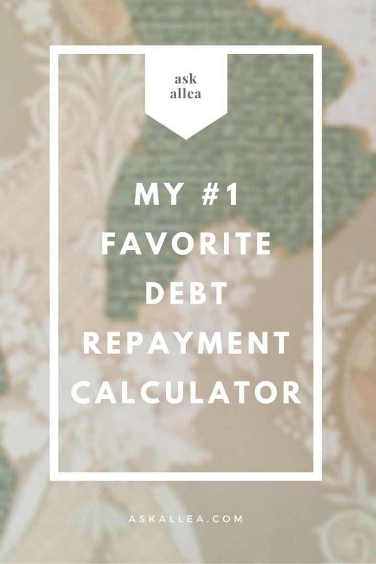 "Ask Allea // ""My number one favorite debt repayment calculator"" (scheduled via http://www.tailwindapp.com?utm_source=pinterest&utm_medium=twpin&utm_content=post91699865&utm_campaign=scheduler_attribution)"