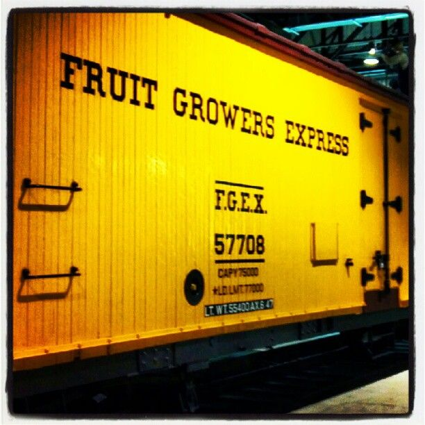 Fresh fruit delivery - Refrigerated boxcar aka 'reefer'