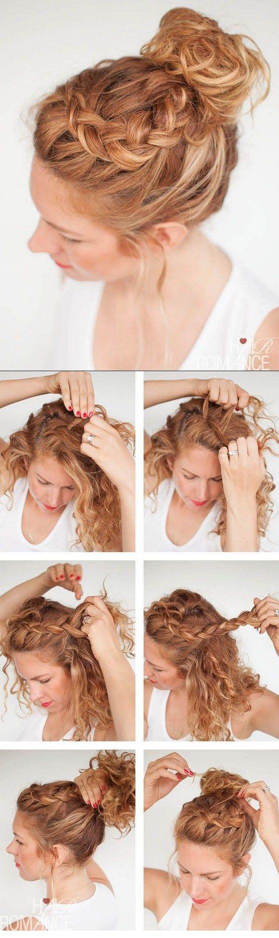 peinado para cabello crespo recogido