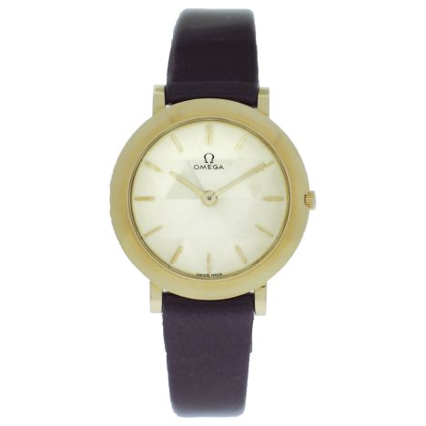 Women's Vintage 18K Yellow Gold Omega Dress Watch. Get Yours: http://www.palisadejewelers.com/portfolio/vintage-3/