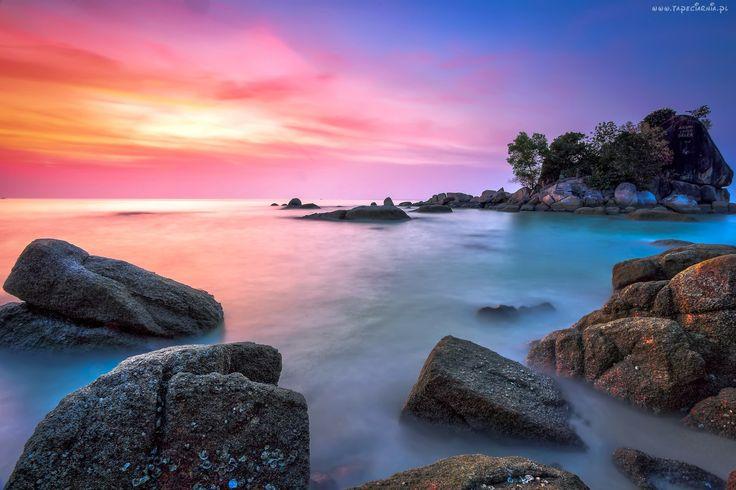 Morze, Skały, Zachód Słopńca