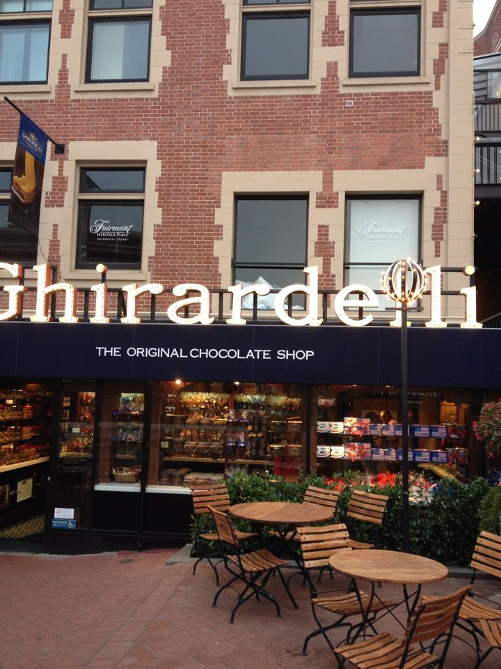 Get your chocolate fix at GhirardelliSquare SanFrancisco