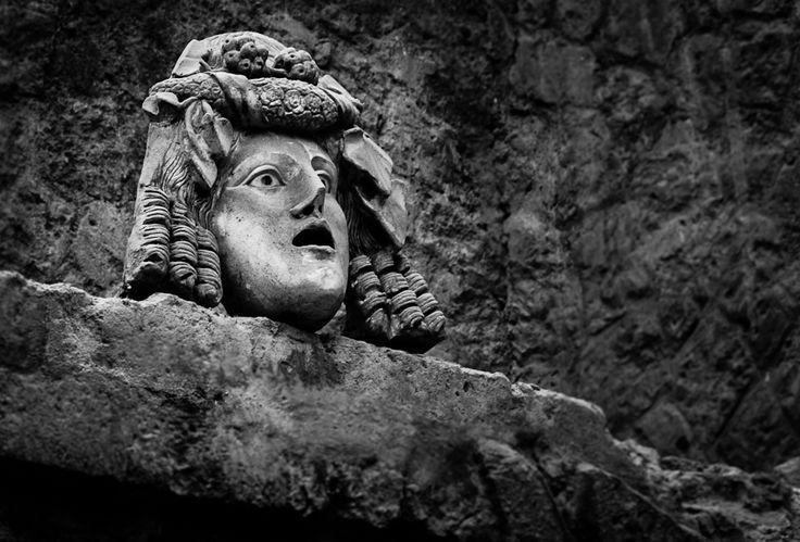 Witness of Stone. A statue head at Pompeii. Pompeii, Italy