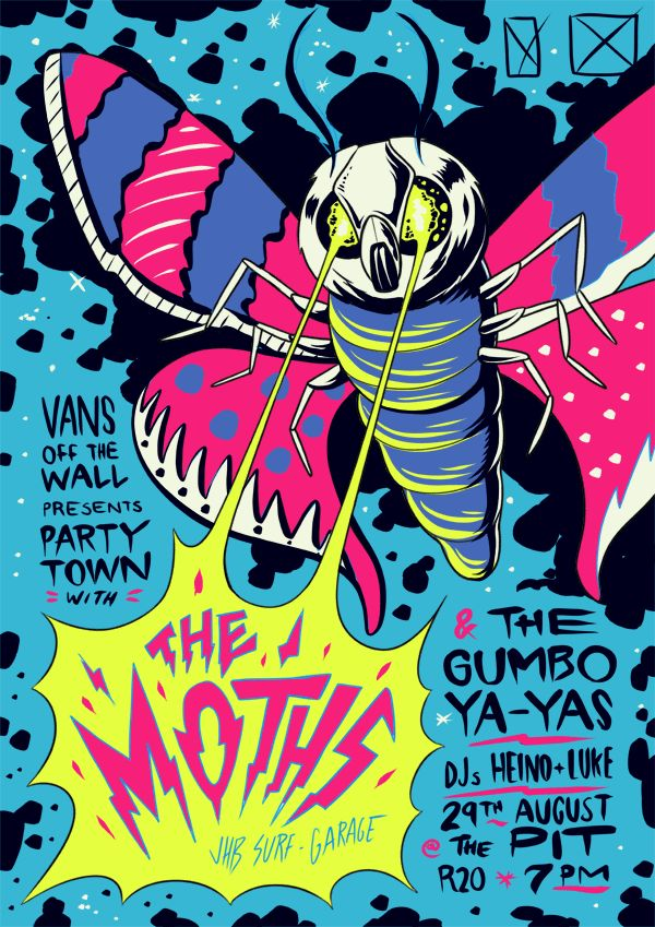The Moths Poster by Ian Jepson, via Behance