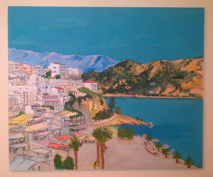 Agia Galini - Crete  (acrylic on canvas 1.20 x 1.00)