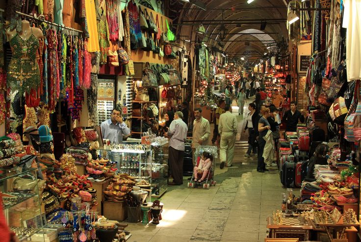 The Grand Bazaar, Istanbul (historically Constantinople), Turkey. One of the largest and oldest covered markets in the world with over 3,000 shops!