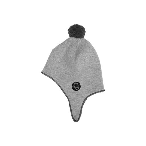 Aviator cap GRAY. A warmly knitted aviator cap.