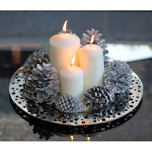 Silver Circles Plate - The Chic Nest