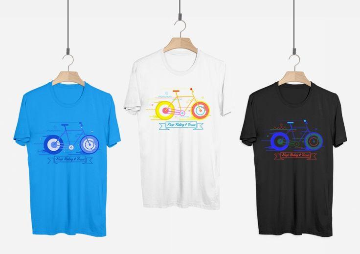 T-shirt Project - Keep Riding and Focus | Kreavi.com