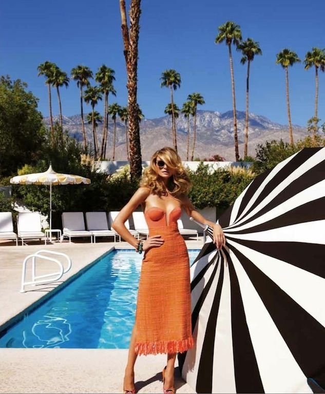 "The Terrier and Lobster: ""Endless Summer"": Fabiana Semprebom in Palm Springs by Troyt Coburn for Marie Claire Australia"