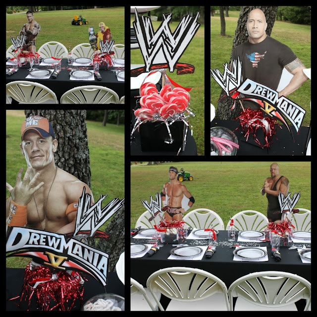WWE Birthday Party Decor, any of my kids would have loved this