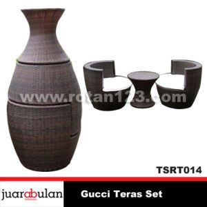 Gucci Teras Set Kursi Rotan Sintetis TSRT014 copy