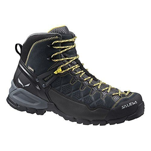 Salewa Mens Alp Trainer Mid GTX Boots Carbon  Ringlo 11  Cap Bundle -- Continue to the product at the image link.