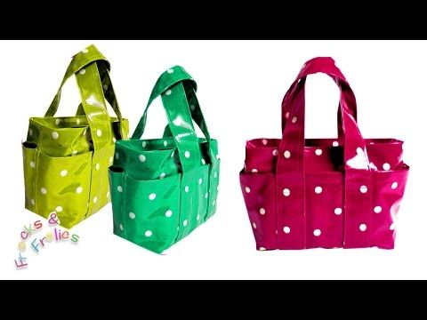 How to sew a Handbag - Step by Step Tutorial (Box Bag Pattern) - YouTube