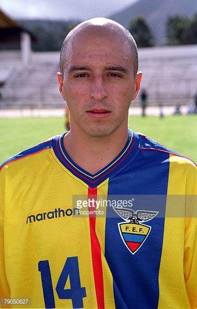 Football 2002 World Cup Qualifier South American CONMEBOL Group 24th April 2001 Quito Ecuador 2 v Paraguay 1 Ecuador's Wellington Sanchez