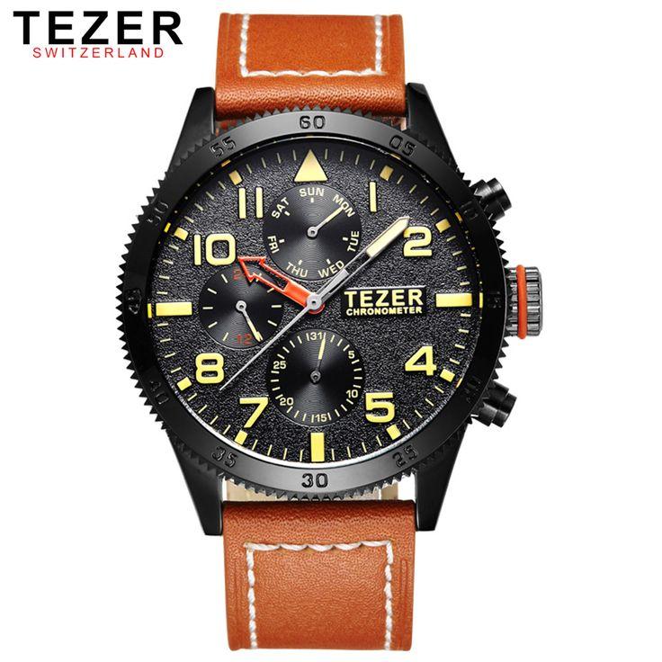 tezer marca relojes deportivos para hombres hombre de negocios reloj de cuarzo resistente al agua t