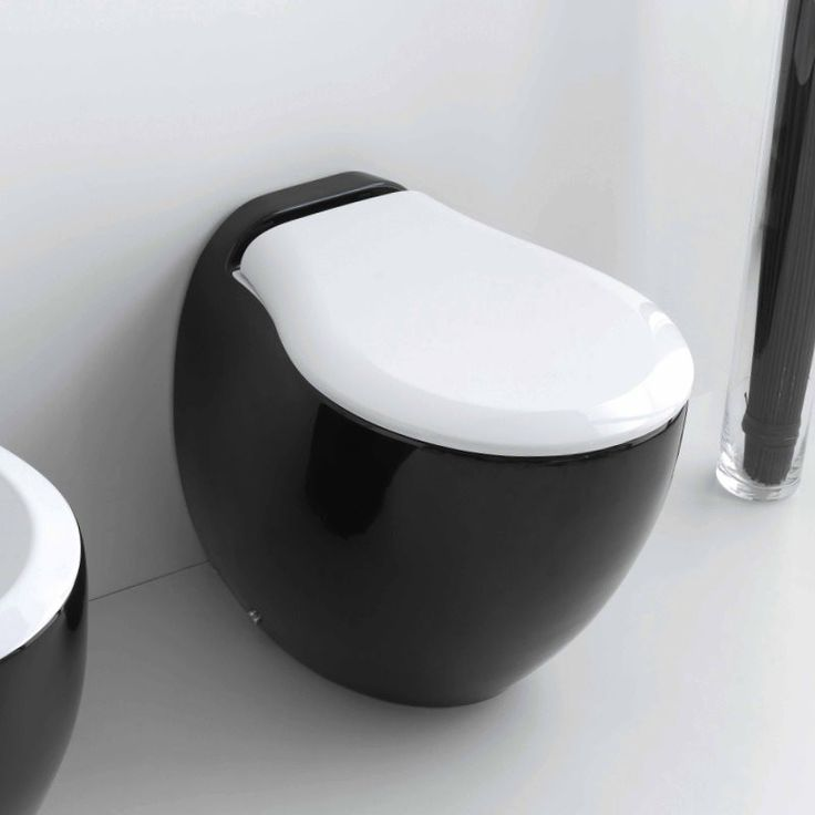 art ceram stand wc blend mit wc sitz design paolelli meneghello black and white. Black Bedroom Furniture Sets. Home Design Ideas