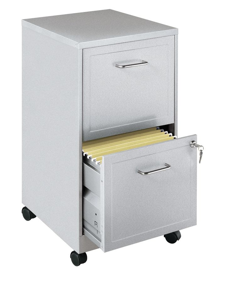 2 Drawer Mobile Filing Cabinet