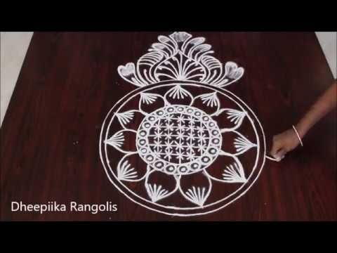 Freehand rangoli designs without dots II simple muggulu rangoli designs II easy kolam designs - YouTube