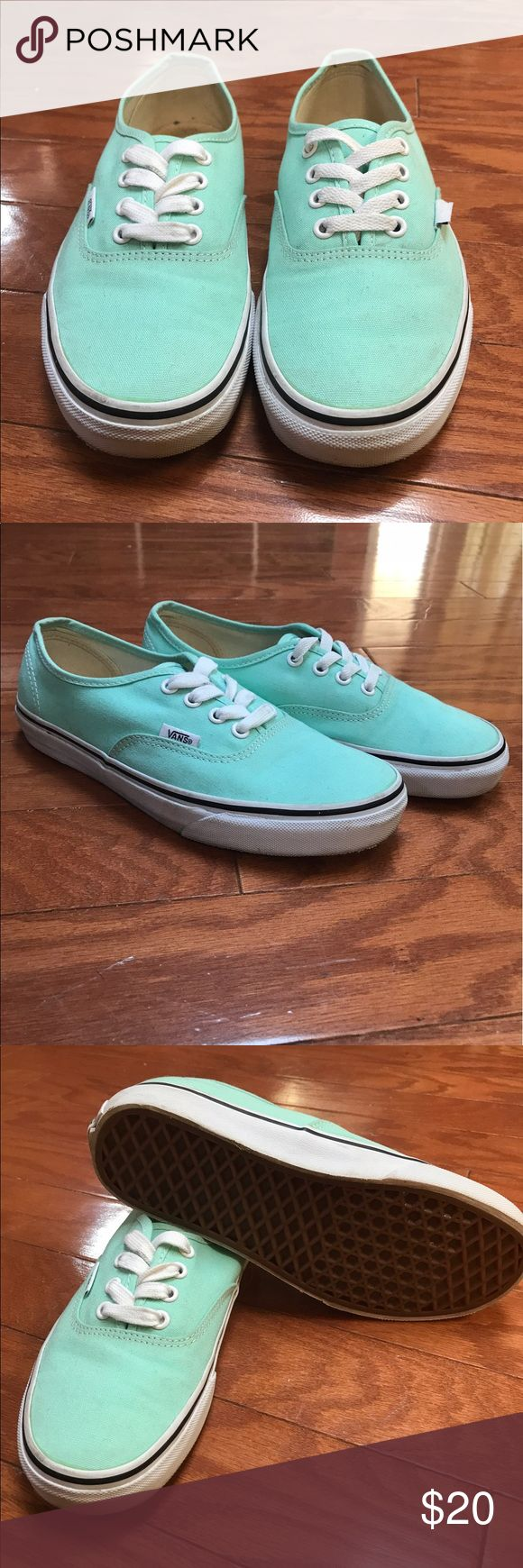 Girls Vans Tiffany Blue. Gently used. Girls Vans.  Good condition, light Tiffany blue color. Vans Shoes Sneakers