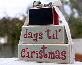 Christmas Countdown blocks but try all reds with white lettering