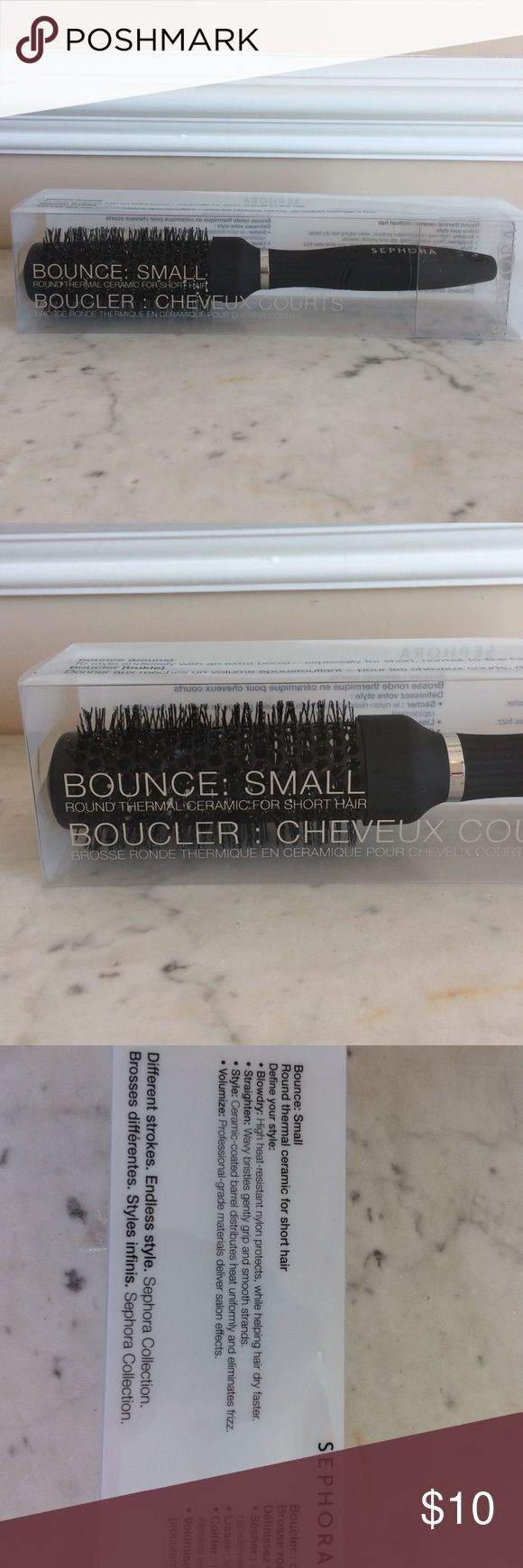 Sephora Bounce:Small Round Thermal Ceramic Brush Sephora Bounce:Small Round Thermal Ceramic Brush for short hair. New, never used. Sephora Other