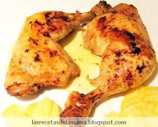 Las recetas de la Mama: Receta de Pollo al horno con salsa de mostaza a la miel