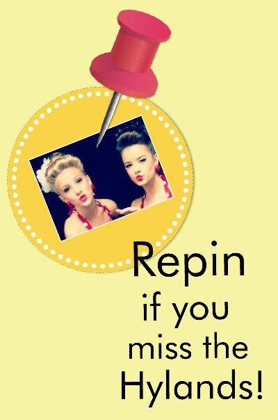 I miss them a lot! Dance Moms isn't the same!!!!