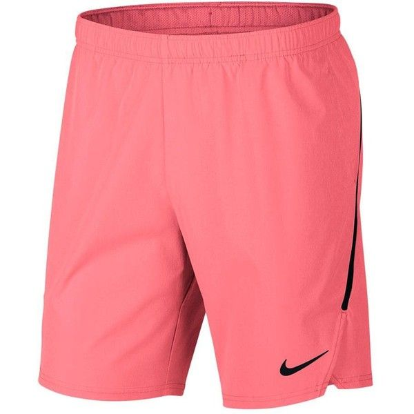 "Nike Men's Court Flex Ace 9"" Tennis Shorts ❤ liked on Polyvore featuring men's fashion, men's clothing, men's activewear, men's activewear shorts and mens activewear shorts"