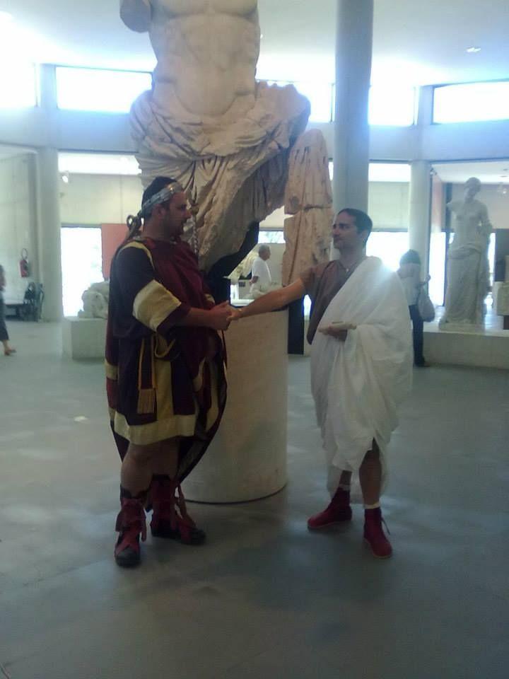the emperor Hadrianus and Martius Atilius Alacer.Arles: Musée de l'Arles Antique