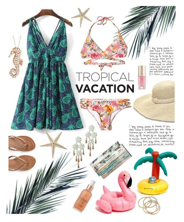 """""""Beach Style"""" by linmari ❤ liked on Polyvore featuring Hollister Co., WithChic, Heidi Klein, Madewell, Loren Hope, Allurez, Aéropostale, RAHUA, ABS by Allen Schwartz and Margaret Dabbs"""