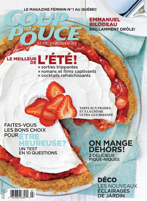 En couverture de notre magazine de juillet 2013: Notre tarte aux fraises et à la crème ultra-gourmande