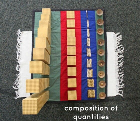 Montessori Math Lesson Composition of Quantities
