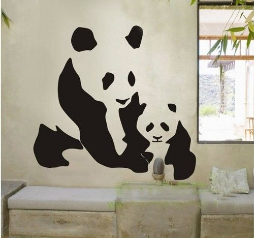 Panda mom and baby vinyl wall sticker, $15.99 from www.pandathings.com