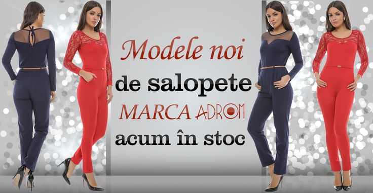 Astăzi, la Adrom Collection au sosit modele noi de salopete. Au un aspect deosebit și accentuează frumos silueta feminină, fiind perfecte pentru evenimente speciale. Detalii și comenzi:  http://www.adromcollection.ro/27-salopete