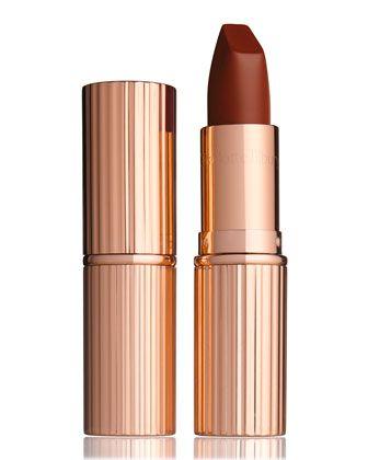 The Matte Revolution Lipstick, Birkin Brown by Charlotte Tilbury at Bergdorf Goodman.