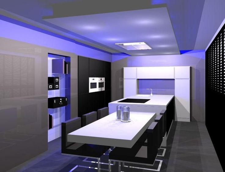 Modern 3d keukenontwerp van een Siematic keuken.