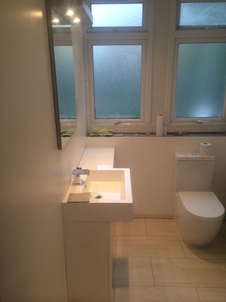 Minimalist ex-council flat bathroom makeover, London