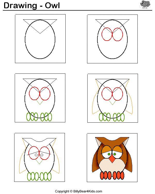 Zo teken je een uil