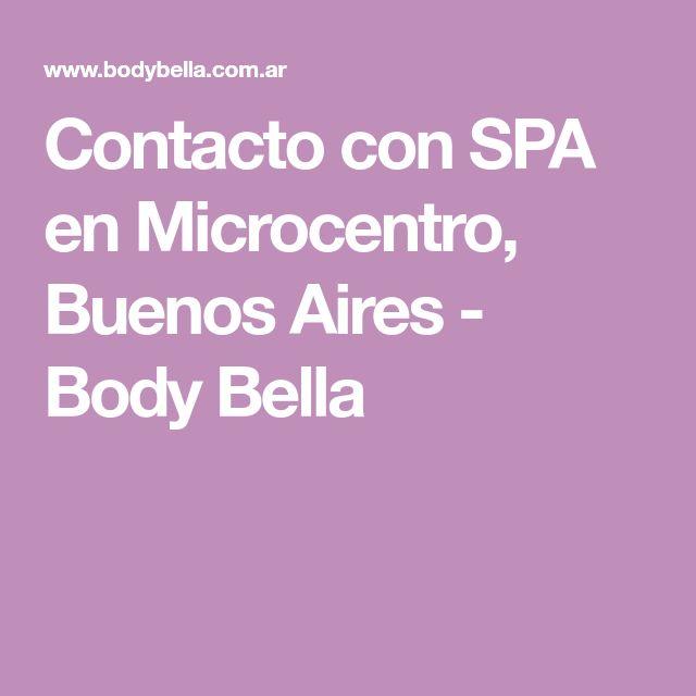 Contacto con SPA en Microcentro, Buenos Aires - Body Bella