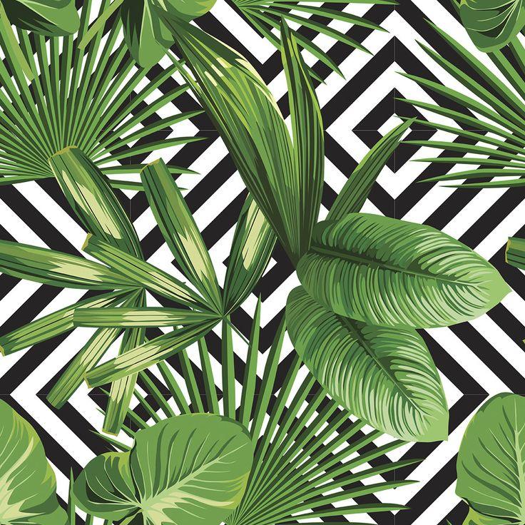 Palms Over Diamonds | Removable Wallpaper | WallsNeedLove