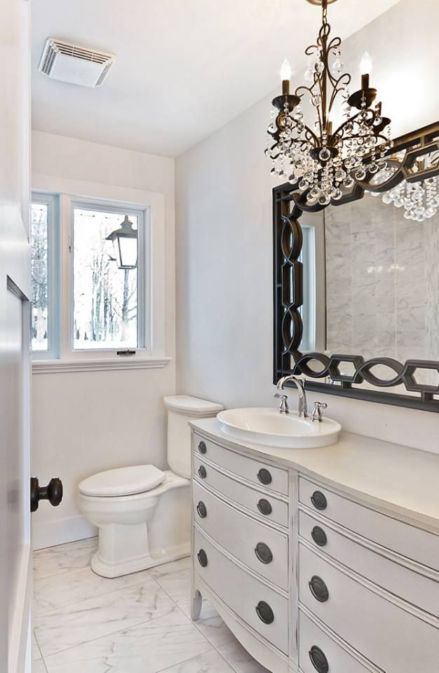 A Gorgeous Dresser Turned Vanity And Finished In Paris