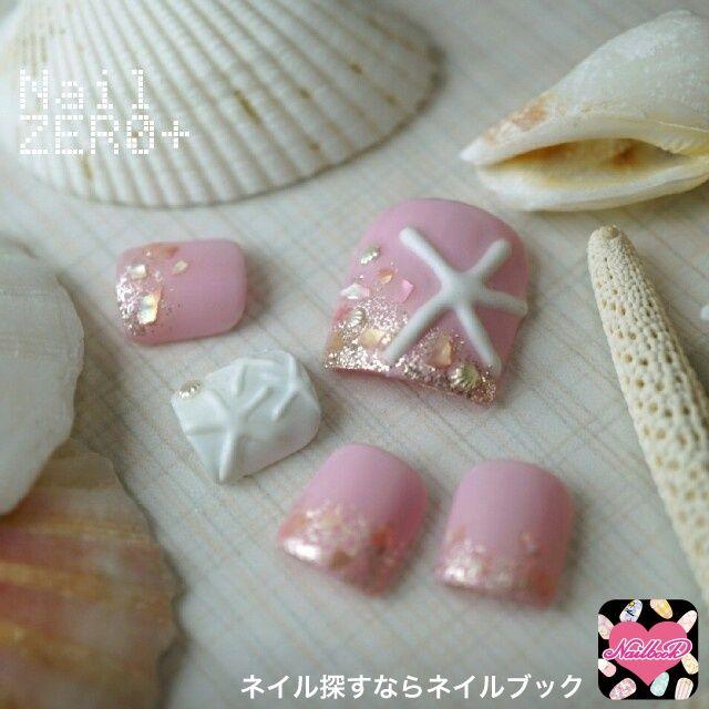 キュートなスターフィッシュフットネイル(【池袋】ネイルゼロプラスShiomi) 夏フットネイル