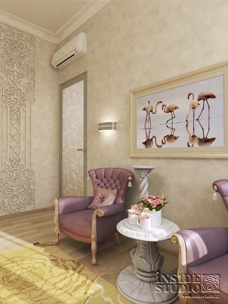 Интерьер загородного  дома  470 m2. Дизайн проект гостевой спальни.   Архитектор Ирина Рихтер. INSIDE-STUDIO Prague
