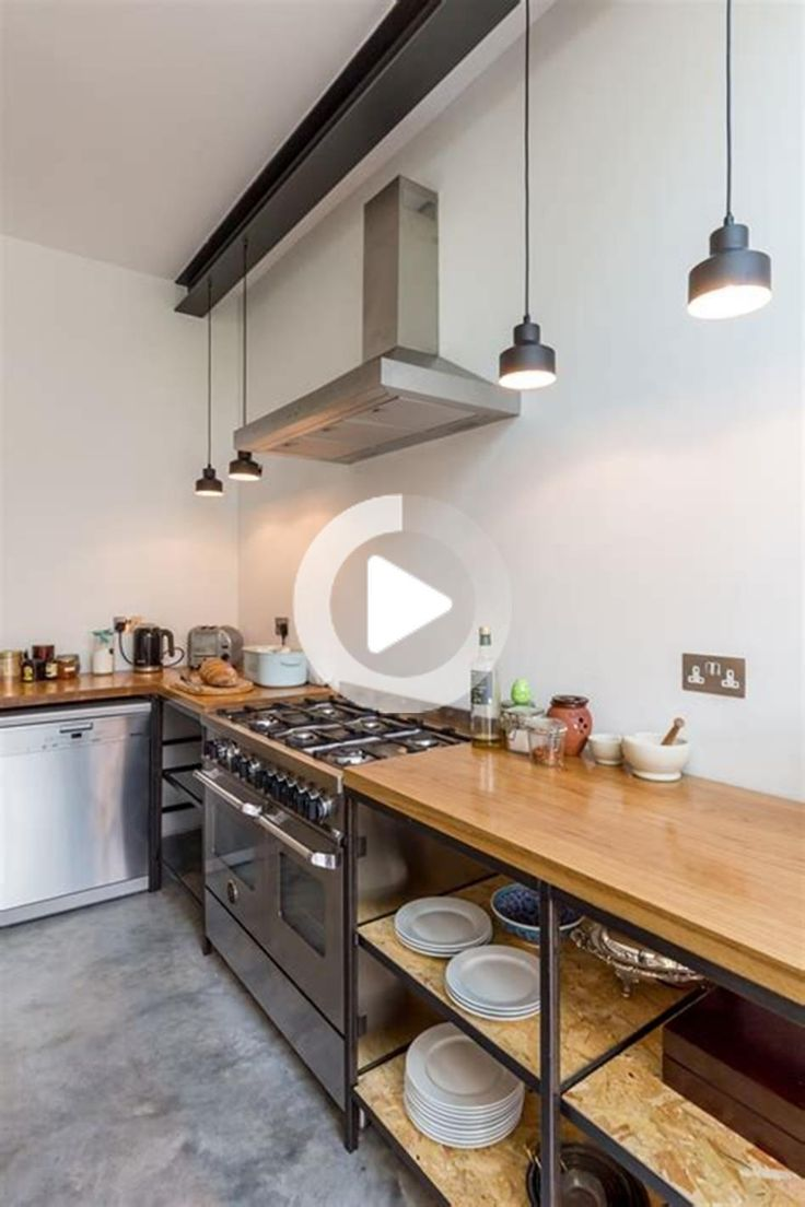 42 Most Popular Industrial Kitchen Design and Decor Ideas ...