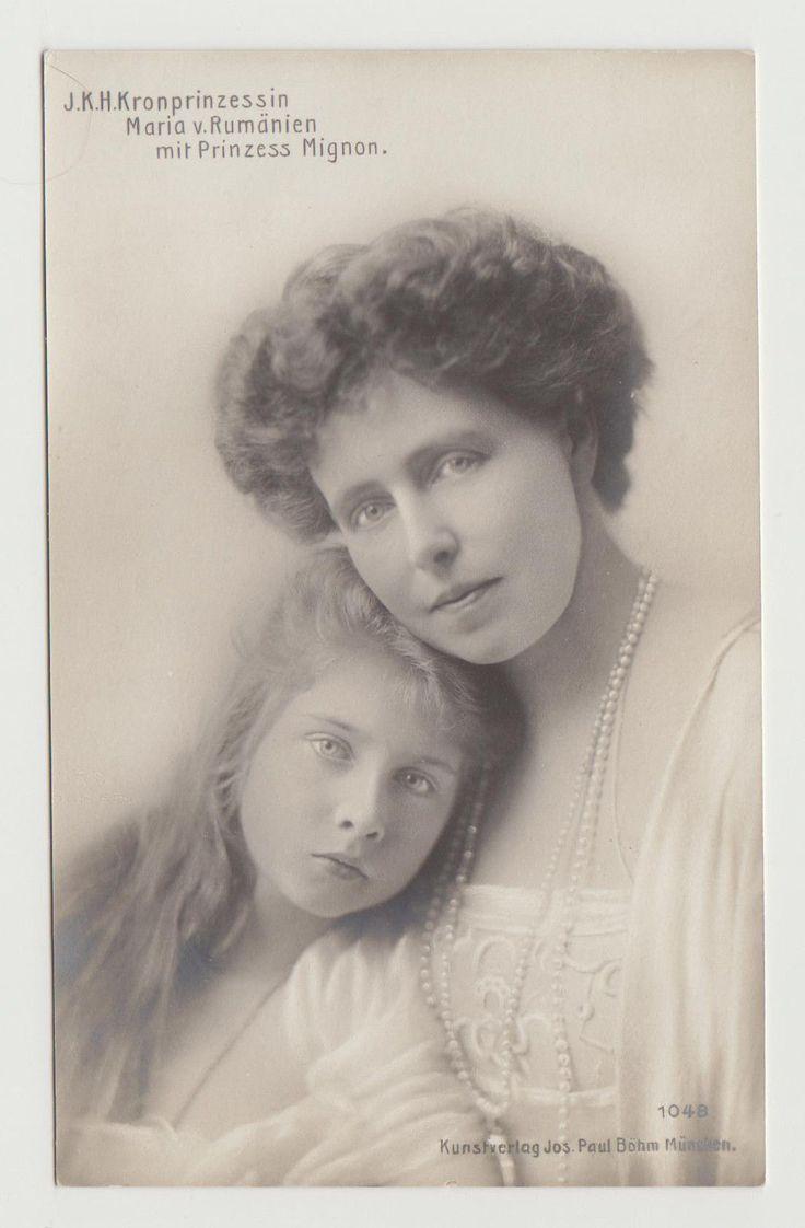 RPPC Crown Princess Marie, Princess Mignon Romania c. 1912 in Collectibles, Postcards, Royalty | eBay