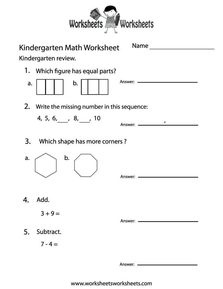 105 best Math Worksheets images on Pinterest | Count, Kindergarten ...